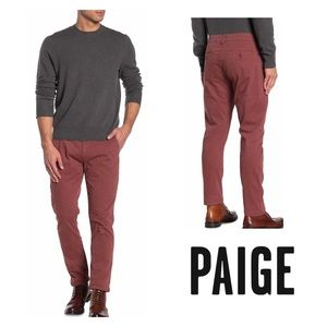 PAIGE Normandie Tread Chino Pants Canyon Red | 28